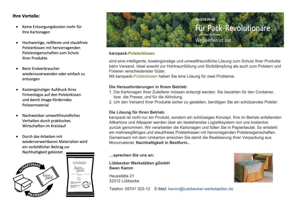 Broschüre zur Erklärung KaroPack Seite 2